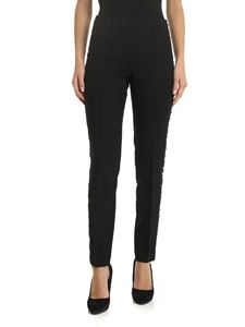 Parosh - Black trousers with side studded bands