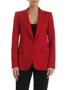 Parosh - Single-breasted jacket in red stretch wool