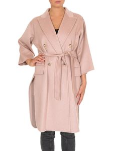 Max Mara - Double-breasted Risorsa coat in powder pink