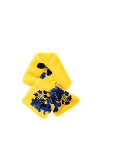 Vivetta - Eco-fur stole in yellow and blue