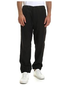 Moncler - Black pants with 3D logo