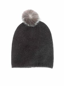 Max Mara - Crasso beanie in dark grey color