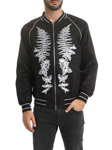 Alexander McQueen - Black jacket with floral embroidery