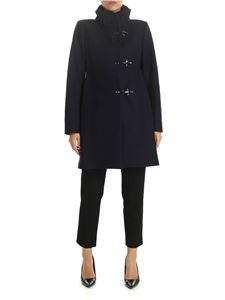 Fay - 3 Ganci blue coat in virgin wool and cashmere