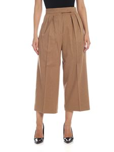 Max Mara - Peplo trousers in camel color