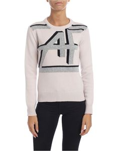 Alberta Ferretti - Light pink pullover with AF inlay