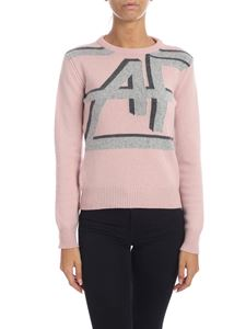 Alberta Ferretti - Antique pink pullover with AF inlay
