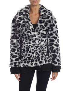 Alberta Ferretti - Animal-print eco-fur in gray
