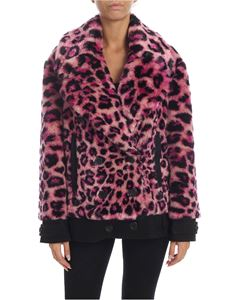 Alberta Ferretti - Animal-print eco-fur in purple