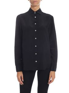 Barba - Black shirt in pure silk