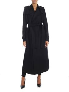 Harris Wharf London - Double layer coat in black