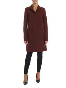 Harris Wharf London - Brown coat in virgin wool cloth