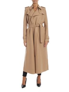 Harris Wharf London - Double layer coat in beige
