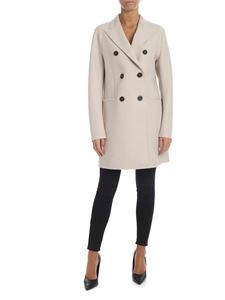 Harris Wharf London - Coat in beige woolen cloth