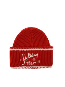 Philosophy di Lorenzo Serafini - Red beanie Holiday Treat embroidery