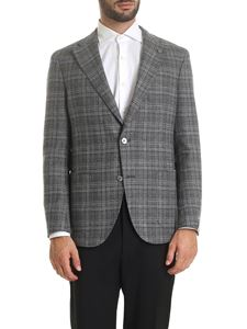 Luigi Bianchi Mantova - Checkered jacket in grey and dove grey