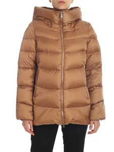 ADD - Quilted down jacket in camel color