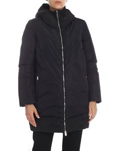 ADD - Black hooded down jacket