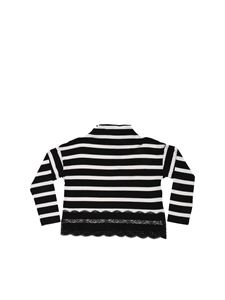 Monnalisa - Black and white striped sweater