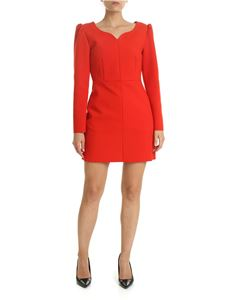 MSGM - Red dress with puff sleeves