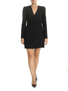 MSGM - Black dress with curled detail