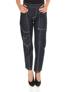 Chloé - Blue jeans with contrast stitching