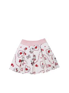 Monnalisa - Gonna bianca con stampa Hello Kitty