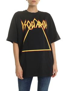 Dsquared2 - Black t-shirt with yellow and red logo print