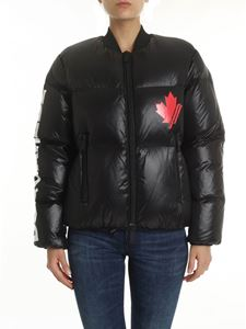 Dsquared2 - Black down jacket with logo
