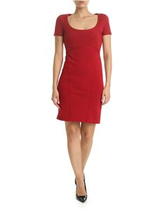 Dsquared2 - Embroidered pencil dress in red