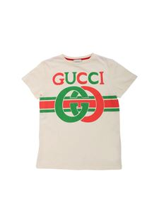 Gucci - Cream colored T-shirt with GG print