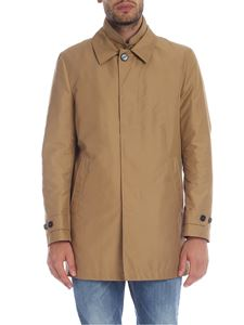 Fay - Coat in camel color technical fabric