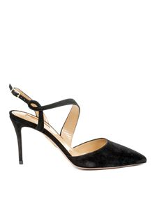 Aquazzura - Arden sling backs in black suede