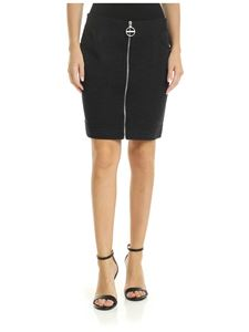 Givenchy - Gray melange miniskirt with zip