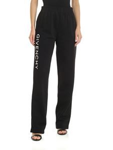 Givenchy - Black technical trousers with Givenchy embroidery