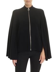 Givenchy - Cape in wool and cashmere in black