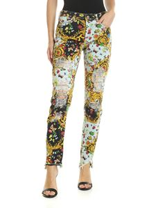 Versace - Versace Jeans Couture printed jeans in light blue