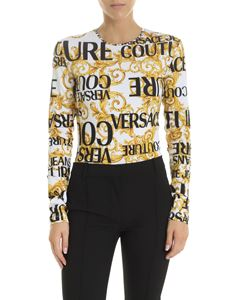 Versace - Versace Jeans Couture printed body in white