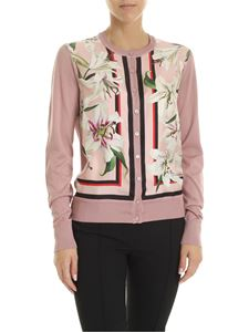 Dolce & Gabbana - Lilium printed cardigan in antique pink color