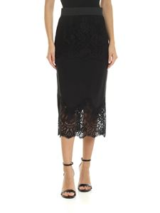 Dolce & Gabbana - Silk and lace skirt in black