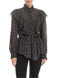 See by Chloé - Black blouse with floral pattern