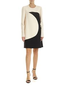 Valentino - Crepe couture dress in ivory and black