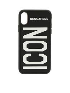 Dsquared2 - Cover per iPhone X nera con dettaglio Icon