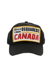 Dsquared2 - Black cap with multicolor logo