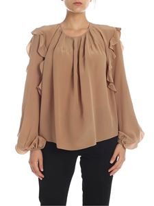 Rochas - Patty silk blouse in camel color