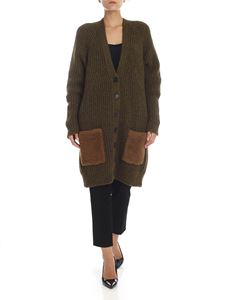 Rochas - Alpaca and wool cardigan in Army green