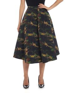 Rochas - Pesca skirt in camouflage green