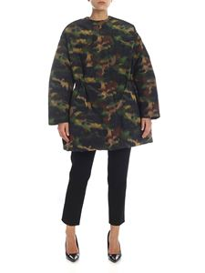 Rochas - Camouflage down jacket in Army green