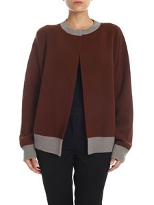 Sofie D'Hoore - Cashmere cardigan in brown and gray
