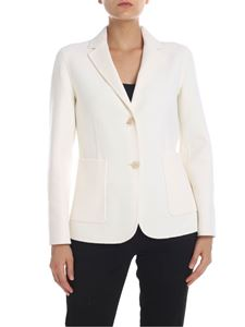 Theory - Wool and cashmere jacket in Ivory color